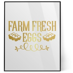Farm Quotes 8x10 Foil Wall Art - White (Personalized)