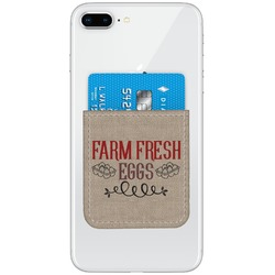 Farm Quotes Genuine Leather Adhesive Phone Wallet (Personalized)