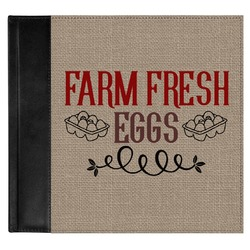 Farm Quotes Genuine Leather Baby Memory Book (Personalized)