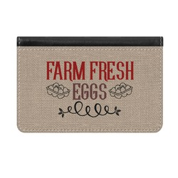 Farm Quotes Genuine Leather ID & Card Wallet - Slim Style (Personalized)