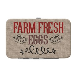 Farm Quotes Genuine Leather Small Framed Wallet (Personalized)