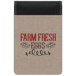 Farm Quotes Genuine Leather Small Memo Pad (Personalized)