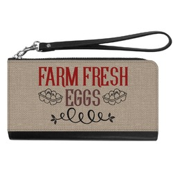 Farm Quotes Genuine Leather Smartphone Wrist Wallet (Personalized)