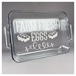 Farm Quotes Glass Baking and Cake Dish