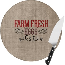 Farm Quotes Round Glass Cutting Board (Personalized)