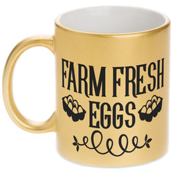 Farm Quotes Gold Mug (Personalized)