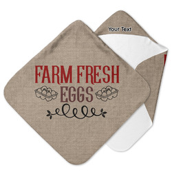 Farm Quotes Hooded Baby Towel (Personalized)