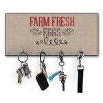 Farm Quotes Key Hanger w/ 4 Hooks