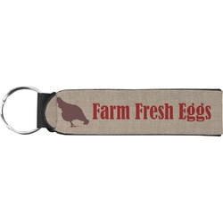 Farm Quotes Neoprene Keychain Fob (Personalized)