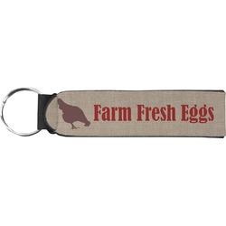 Farm Quotes Neoprene Keychain Fob (Personalized)
