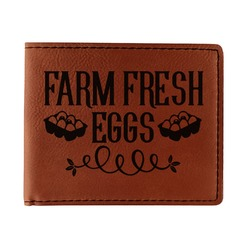 Farm Quotes Leatherette Bifold Wallet - Single Sided (Personalized)