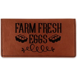 Farm Quotes Leatherette Checkbook Holder (Personalized)