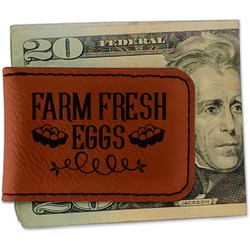 Farm Quotes Leatherette Magnetic Money Clip - Single Sided (Personalized)