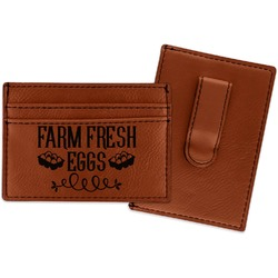 Farm Quotes Leatherette Wallet with Money Clip (Personalized)