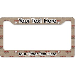 Farm Quotes License Plate Frame (Personalized)