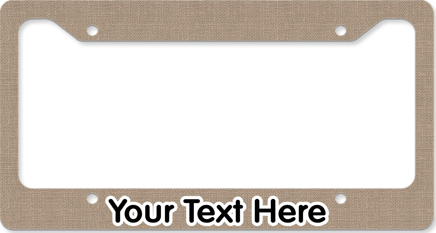 Farm Quotes License Plate Frame Personalized  You