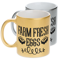 Farm Quotes Metallic Mug