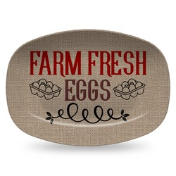 Farm Quotes Plastic Platter - Microwave & Oven Safe Composite Polymer (Personalized)