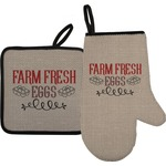 Farm Quotes Oven Mitt & Pot Holder (Personalized)