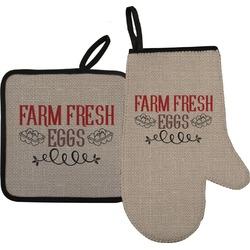 Farm Quotes Oven Mitt & Pot Holder Set