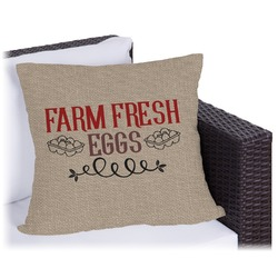 """Farm Quotes Outdoor Pillow - 18"""" (Personalized)"""