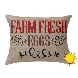 Farm Quotes Outdoor Throw Pillow (Rectangular) (Personalized)