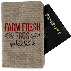 Farm Quotes Passport Holder - Fabric (Personalized)