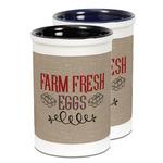 Farm Quotes Ceramic Pencil Holder - Large