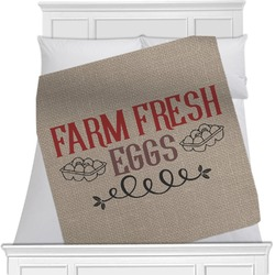 """Farm Quotes Fleece Blanket - Queen / King - 90""""x90"""" - Double Sided (Personalized)"""