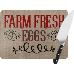 Farm Quotes Rectangular Glass Cutting Board (Personalized)