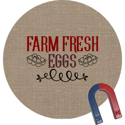 Farm Quotes Round Fridge Magnet