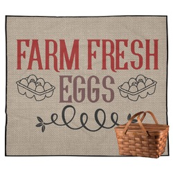 Farm Quotes Outdoor Picnic Blanket (Personalized)