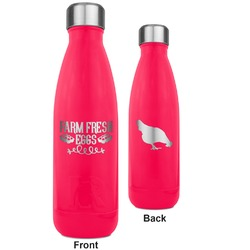 Farm Quotes RTIC Bottle - 17 oz. Pink - Engraved Front & Back (Personalized)