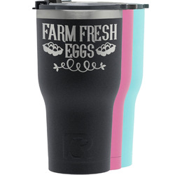 Farm Quotes RTIC Tumbler - Black (Personalized)
