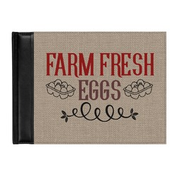 Farm Quotes Genuine Leather Guest Book (Personalized)