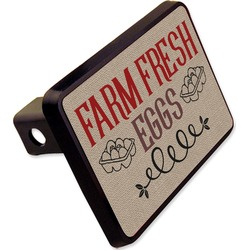 """Farm Quotes Rectangular Trailer Hitch Cover - 2"""" (Personalized)"""