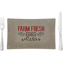 Farm Quotes Glass Rectangular Lunch / Dinner Plate - Single or Set (Personalized)