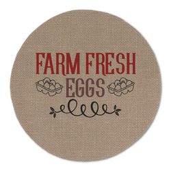Farm Quotes Round Linen Placemat