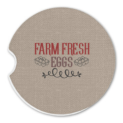 Farm Quotes Sandstone Car Coasters (Personalized)