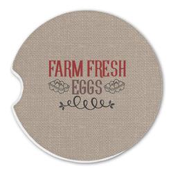 Farm Quotes Sandstone Car Coaster - Single (Personalized)