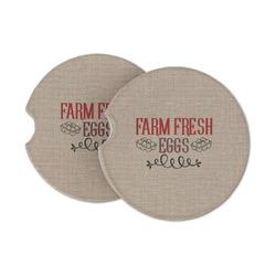 Farm Quotes Sandstone Car Coasters (Personalized)