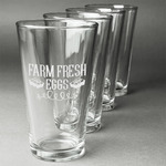 Farm Quotes Beer Glasses (Set of 4) (Personalized)