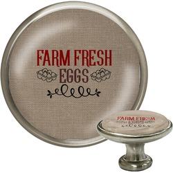 Farm Quotes Cabinet Knob (Silver) (Personalized)