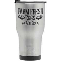 Farm Quotes RTIC Tumbler - Silver (Personalized)