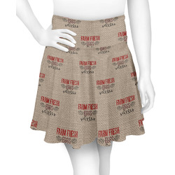 Farm Quotes Skater Skirt (Personalized)