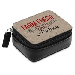 Farm Quotes Small Leatherette Travel Pill Case (Personalized)