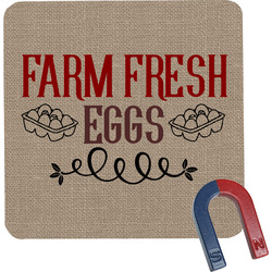 Farm Quotes Square Fridge Magnet (Personalized)