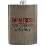 Farm Quotes Stainless Steel Flask (Personalized)