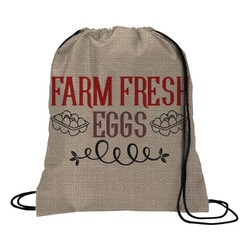 Farm Quotes Drawstring Backpack (Personalized)