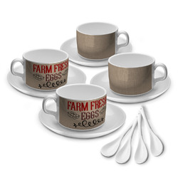 Farm Quotes Tea Cup - Set of 4 (Personalized)